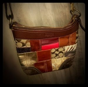 Women's Coach Patchwork Print Handbag